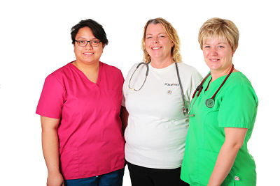 Image of three Wound Care Champions.